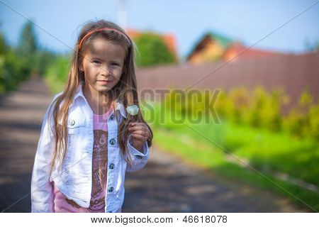 Girl Standing Outdoor And Laughting