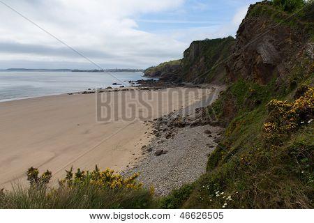 Monkstone Point beach Pembrokeshire West Wales