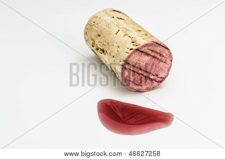 Cork With Red Wine