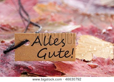 Label With Alles Gute