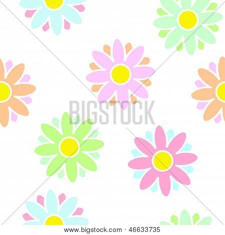 Sweet Flowers Seamless Light