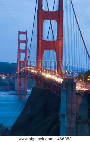 Golden Gate Bridge At Twilight