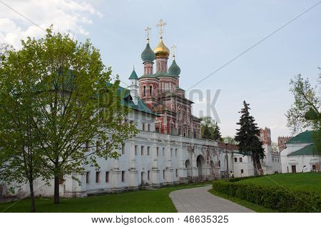 The Gate Church Of The Intercession Of Novodevichiy Convent