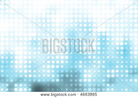 Blue And White Trendy Orbs Abstract Background