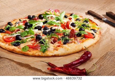 Fresh Country Style Pizza.