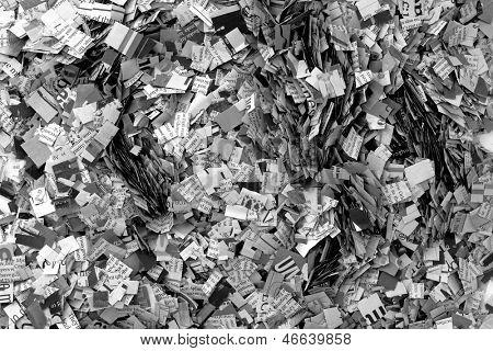 Newspaper confeti