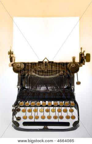Antique Retro Typewriter