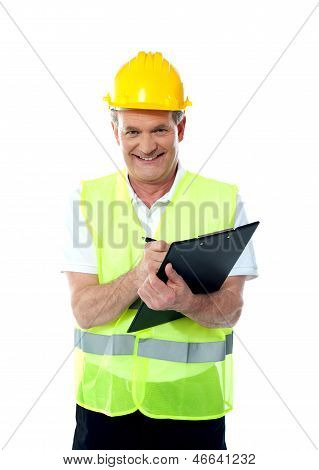 Smiling Senior Construction Engineer
