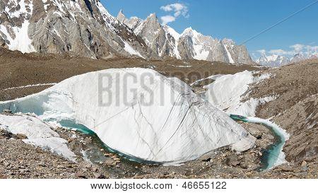 Baltoro Glacier Ice Formation