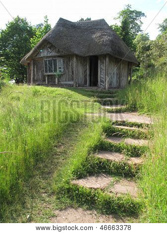 Thatched Summerhouse And Steps