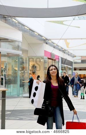 Shopping Girl In The Mall