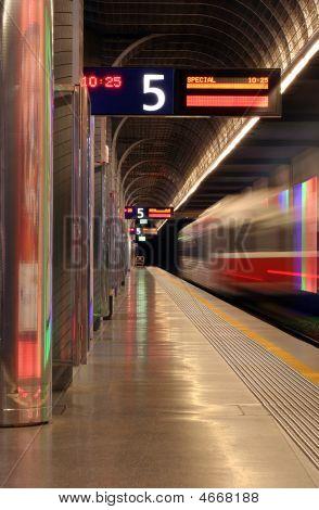 Train Departing Station