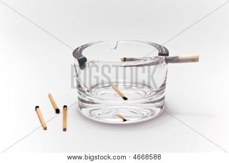 Ashtray With Matches