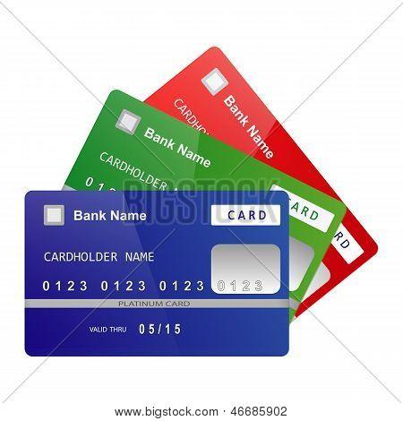 Кредитные карты вектор