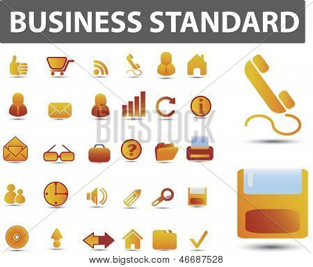 business, office, website icons set, vector