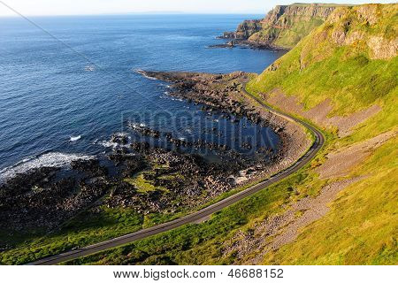 Giant's Causeway Cliffs And Seascape