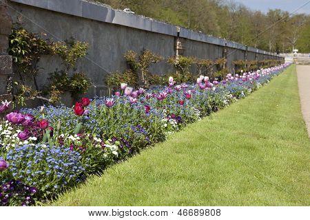 Gardens Of The Chenonceaux Castle, Indre Et Loira, Centre, France