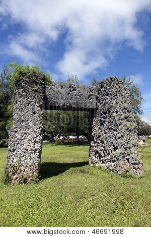 Ha'amonga 'a Maui arch on Tongatapu Island, Tonga poster