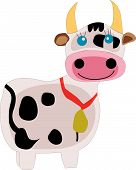 beautiful Spotted Cow on a white background poster