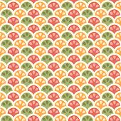Seamless creative color citric pattern. Vector illustration poster