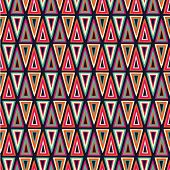 Seamless hand drawn pattern with triangles. Vector illustration poster