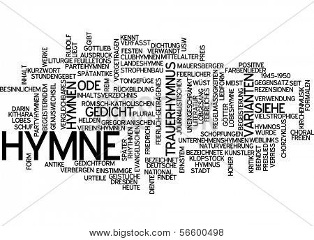 Word cloud -  Hymn