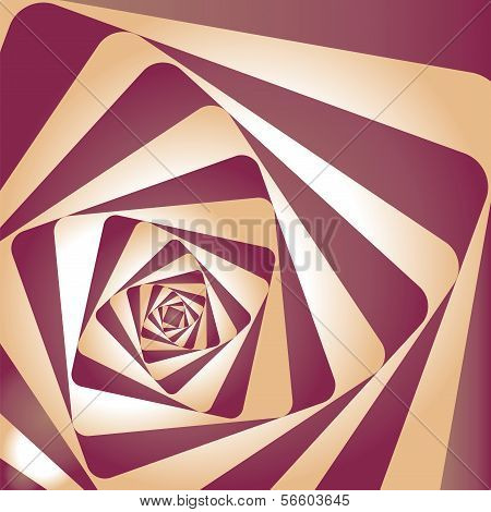 Optical illusion spiral. Vasarely optical effect.