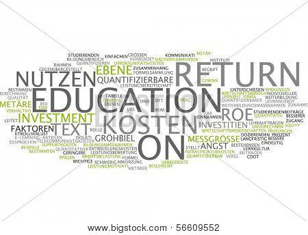 Word cloud - return to education