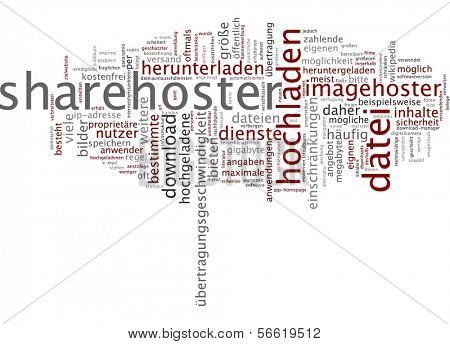 Word cloud -  Word cloud - sharehoster