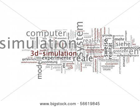 Word cloud -  Word cloud - simulation