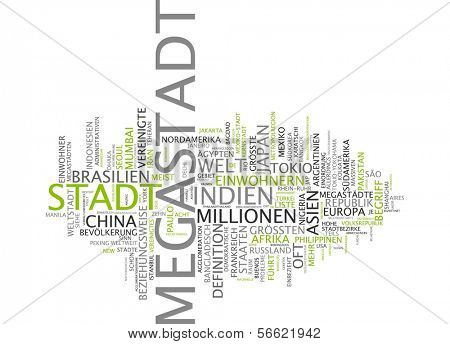 Wort-Wolke - megacity