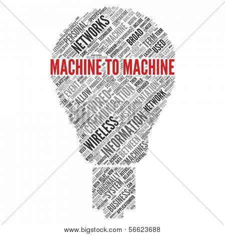Machine to Machine (M2M)   Concept Wallpaper poster