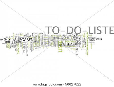 Word Cloud - To-Do List