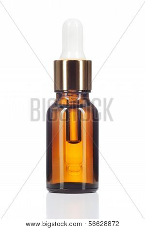 Natural Organic Oil On White Background.
