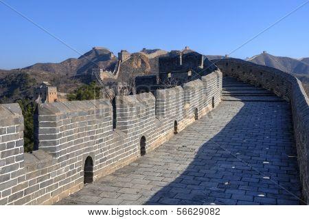 Chinese Great Wall at Jinshanling near Beijing