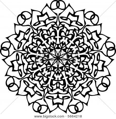 Radial tattoo suitable for permanent or henna tattooing poster