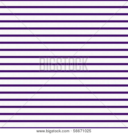 Thin Dark Purple and White Horizontal Striped Textured Fabric Background that is seamless and repeats poster