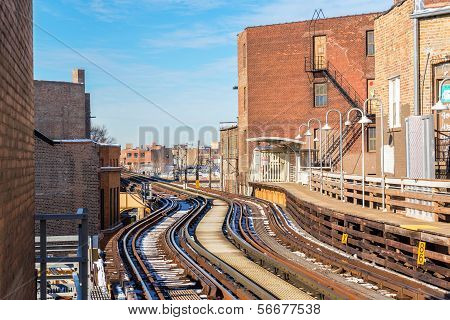Elevated Tracks In Chicago