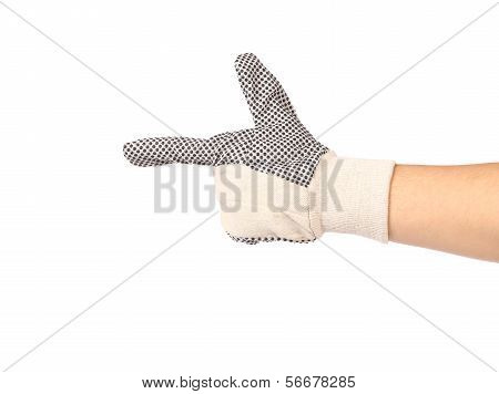 Working gloves with pointing finger