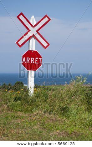 Train Crossing Sign