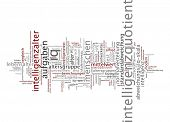 Word cloud -  Intelligence quotient poster