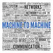 Machine to Machine (M2M)   Conceptual wallpaper poster