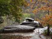 Jefferson Rock in Harpers Ferry, WV where Thomas Jefferson stood with his daughter overlooking the Potomac River poster