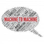M2M   Machine to Machine Communication poster