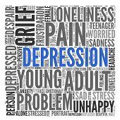DEPRESSION | Concept Wallpaper poster