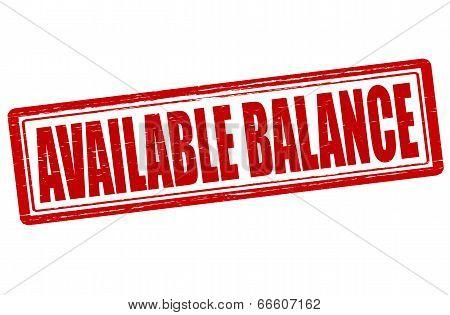 Available Balance