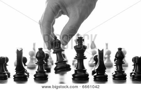 Chess Move With Hand
