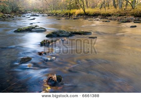 Smoky Mountains River In Fall