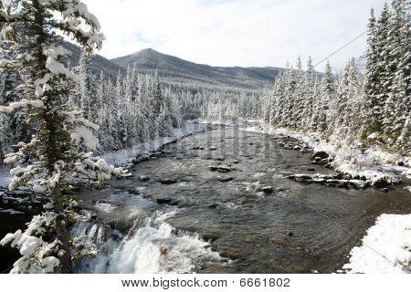 Sheep River waterfalls, Kananaskis Country, Alberta.