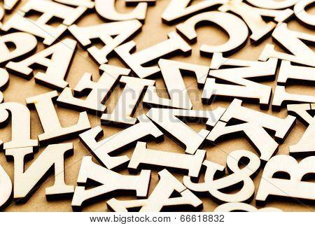 Jumbled wooden letter
